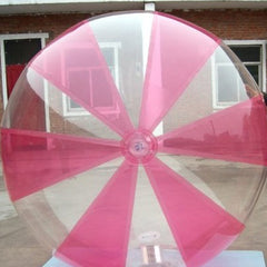 2.5m Inflatable Pink and Clear Water Walking Ball