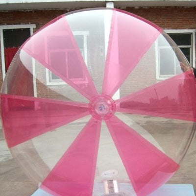 Inflatable Pink and Clear Water Walking Ball 2.5m