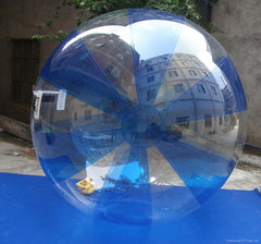 2.5m Inflatable Blue and Clear Water Walking Ball