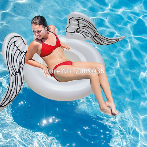 White Angel Wing Inflatable Pool Float