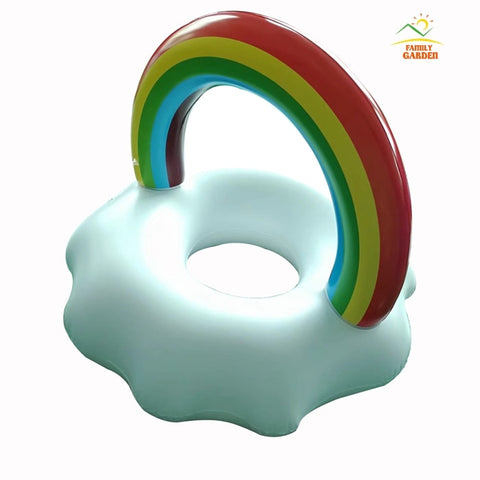 Inflatable Rainbow Cloud Pool Floats