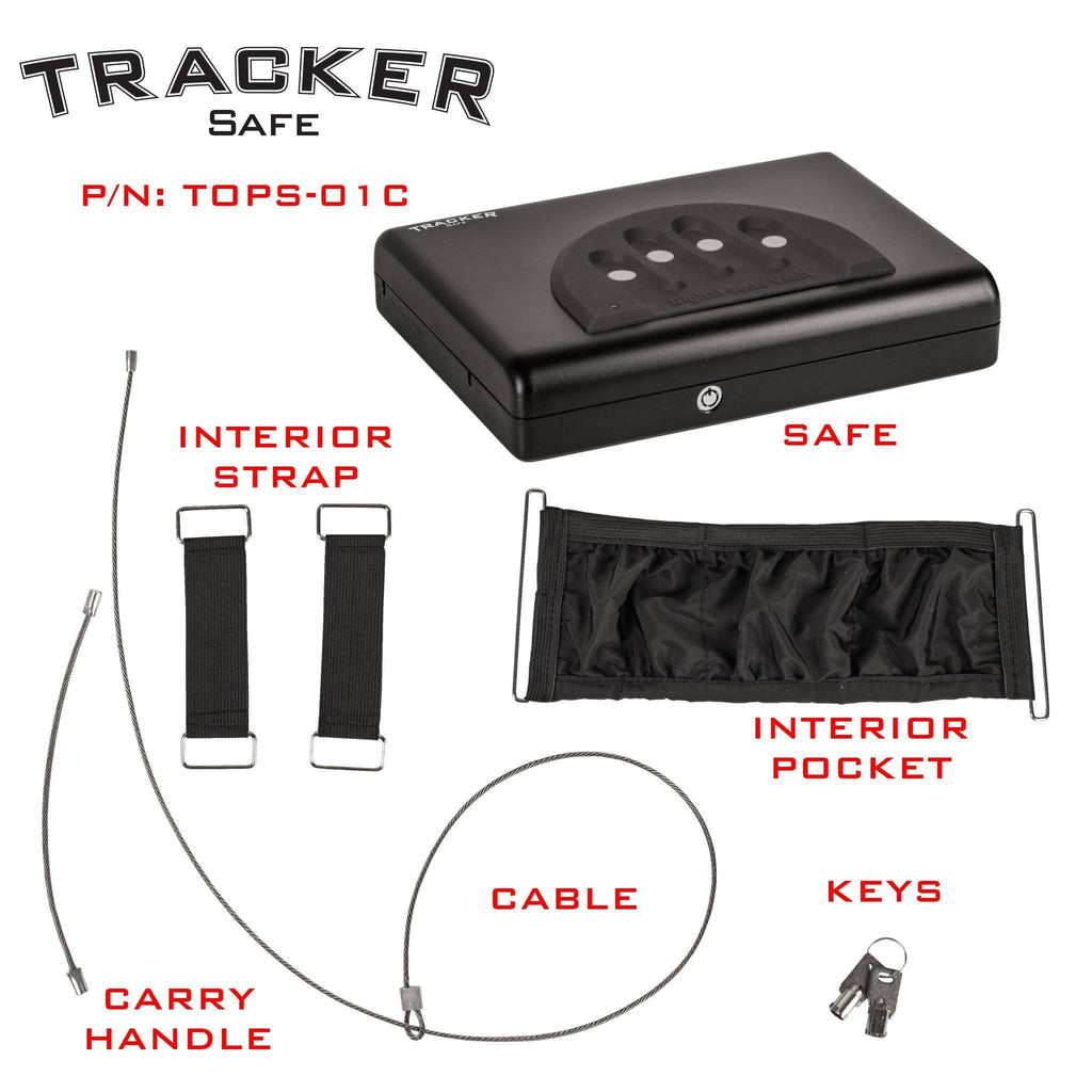 Tracker Safe TOPS-01C Top Opening Pistol Safe with Electronic Combination  Lock