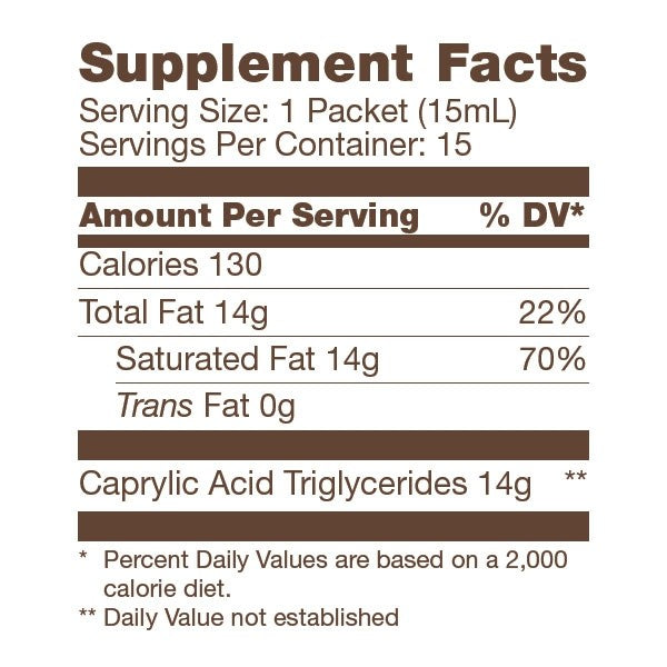 Label of Bulletproof Brain Octane GoPacks - 15 ct from KetoCoffee