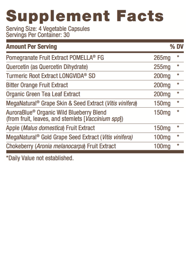 Label of Bulletproof® Polyphenomenal 2.0 - 120 Ct from KetoCoffee