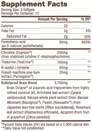 Image of Label of Bulletproof® Smart Mode - 45 Ct from KetoCoffee