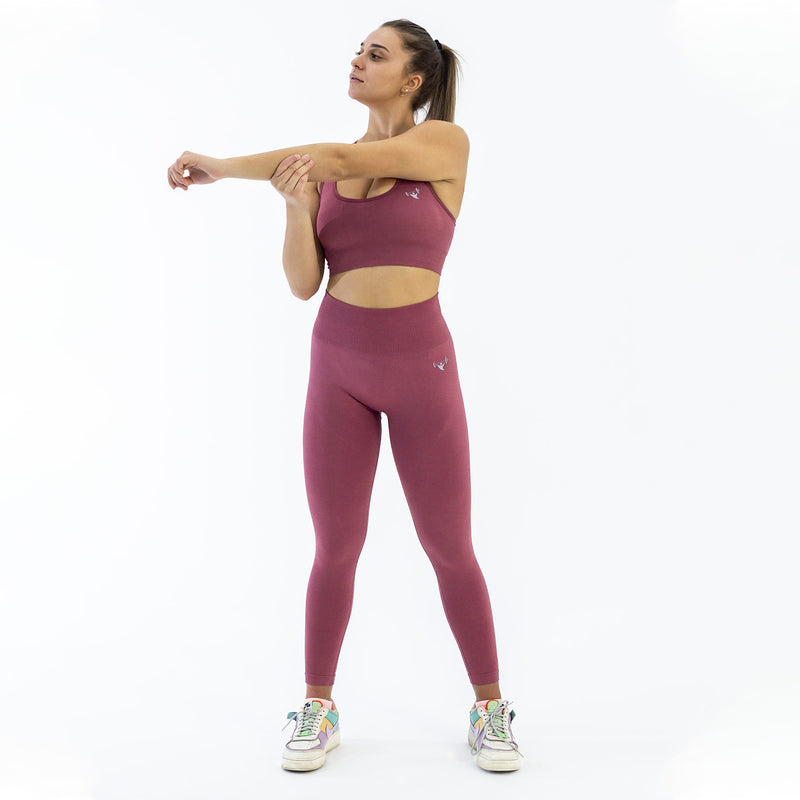 Ultra Wear Power Leggings - Rose Red