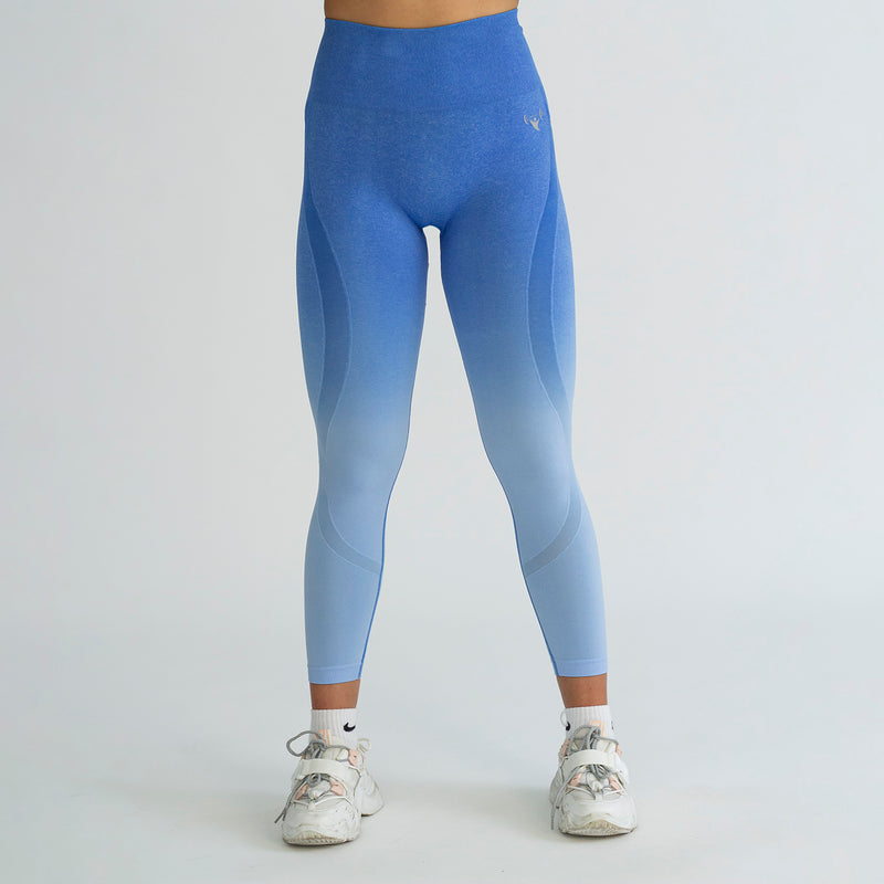 Seamless Contour Blue Ombre Leggings