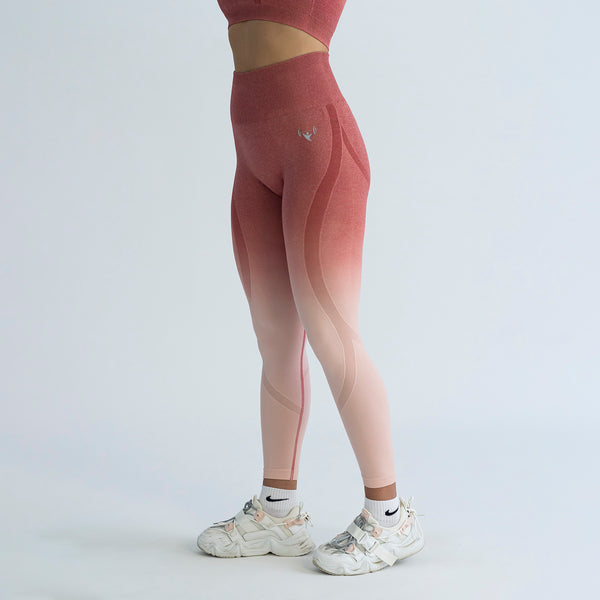 Seamless Contour Pink Ombre Leggings