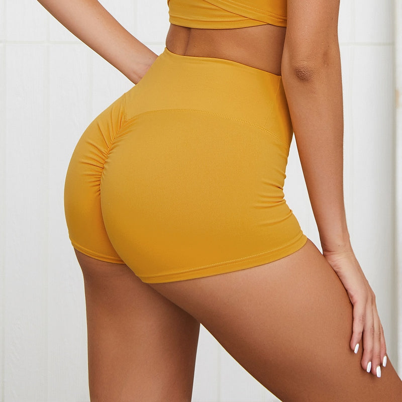 Honey High Waist Ruched Sculpt Fitness Shorts