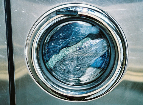 jeans in washing machine