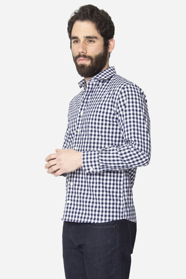 Button Down Shirt Royal Blue Check Button Down Shirt Lianfa
