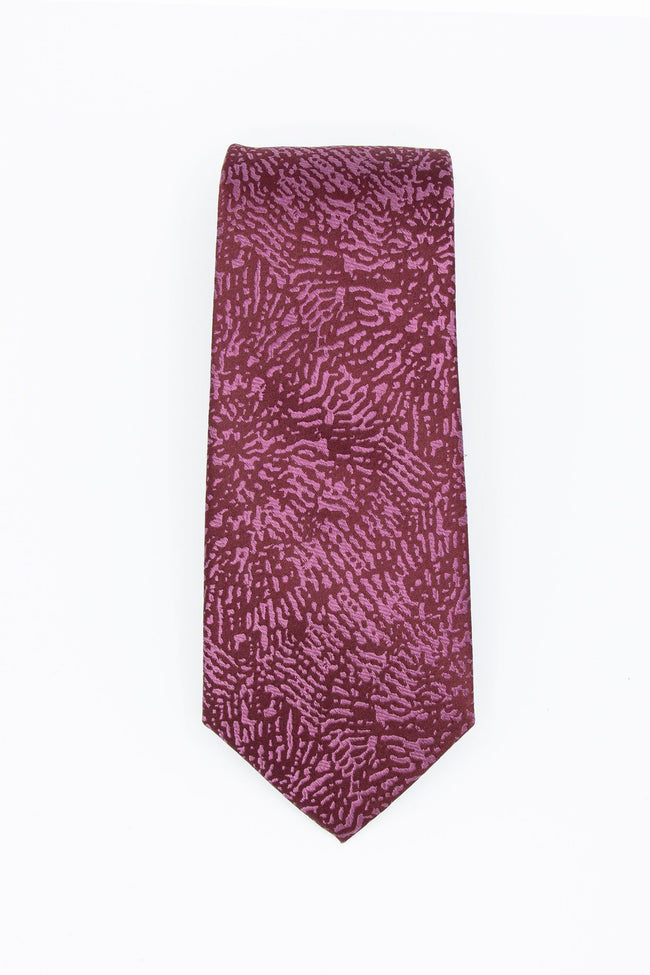 Burgundy Ba-Bam Men's Silk Tie