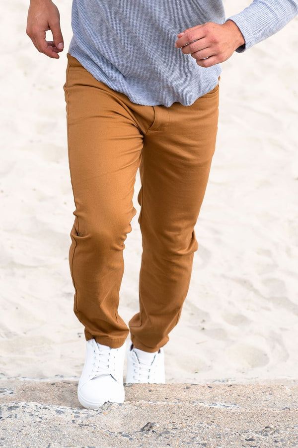 Simon 2.0 Camel Pants Under 5'10 30 26