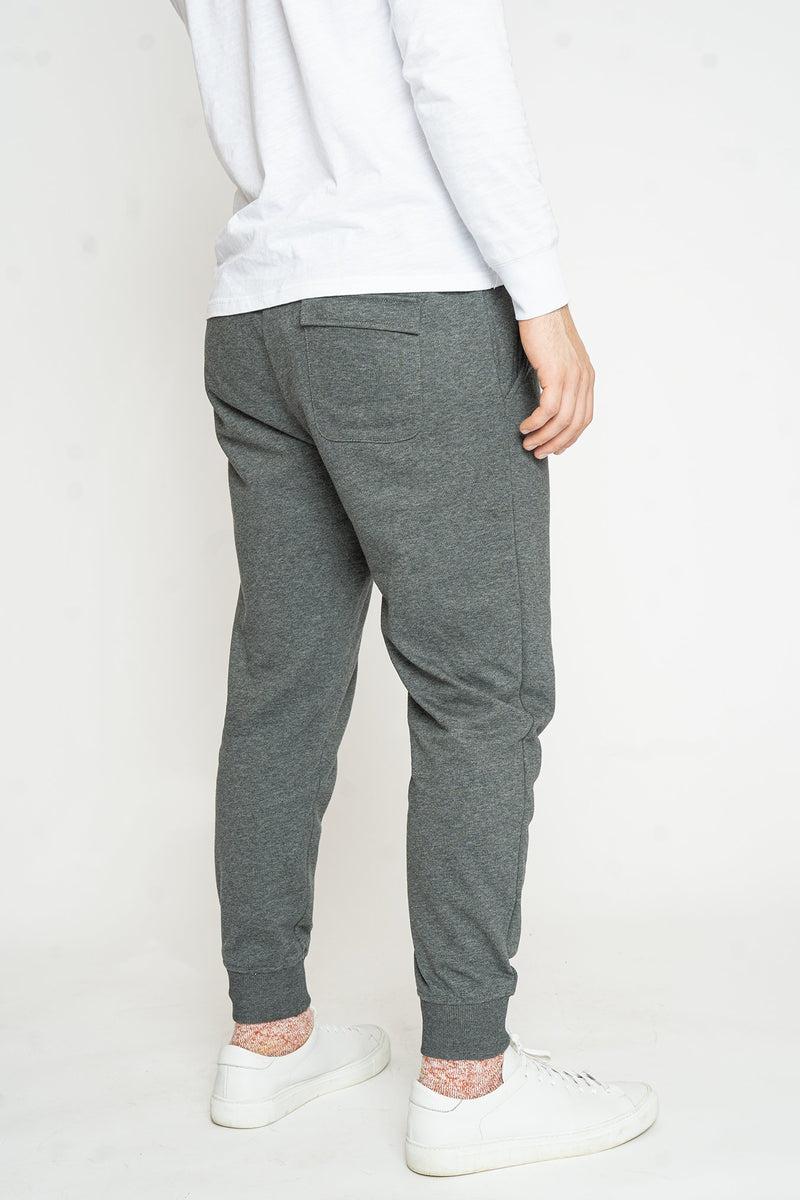 French Terry Jogger Sweatpants Charcoal Pants Under 5'10