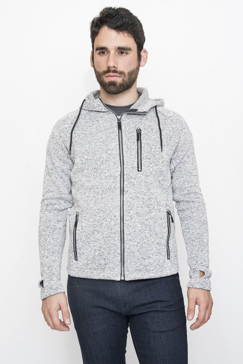 Zip Functional Fleece Hoodie Under 5'10