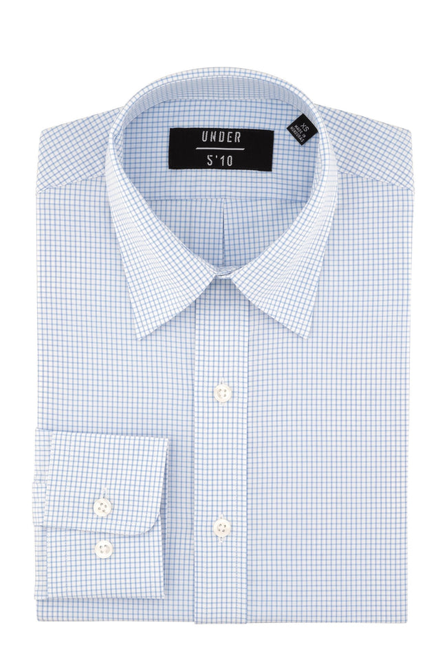 Light Blue Small Check Button Down Shirt