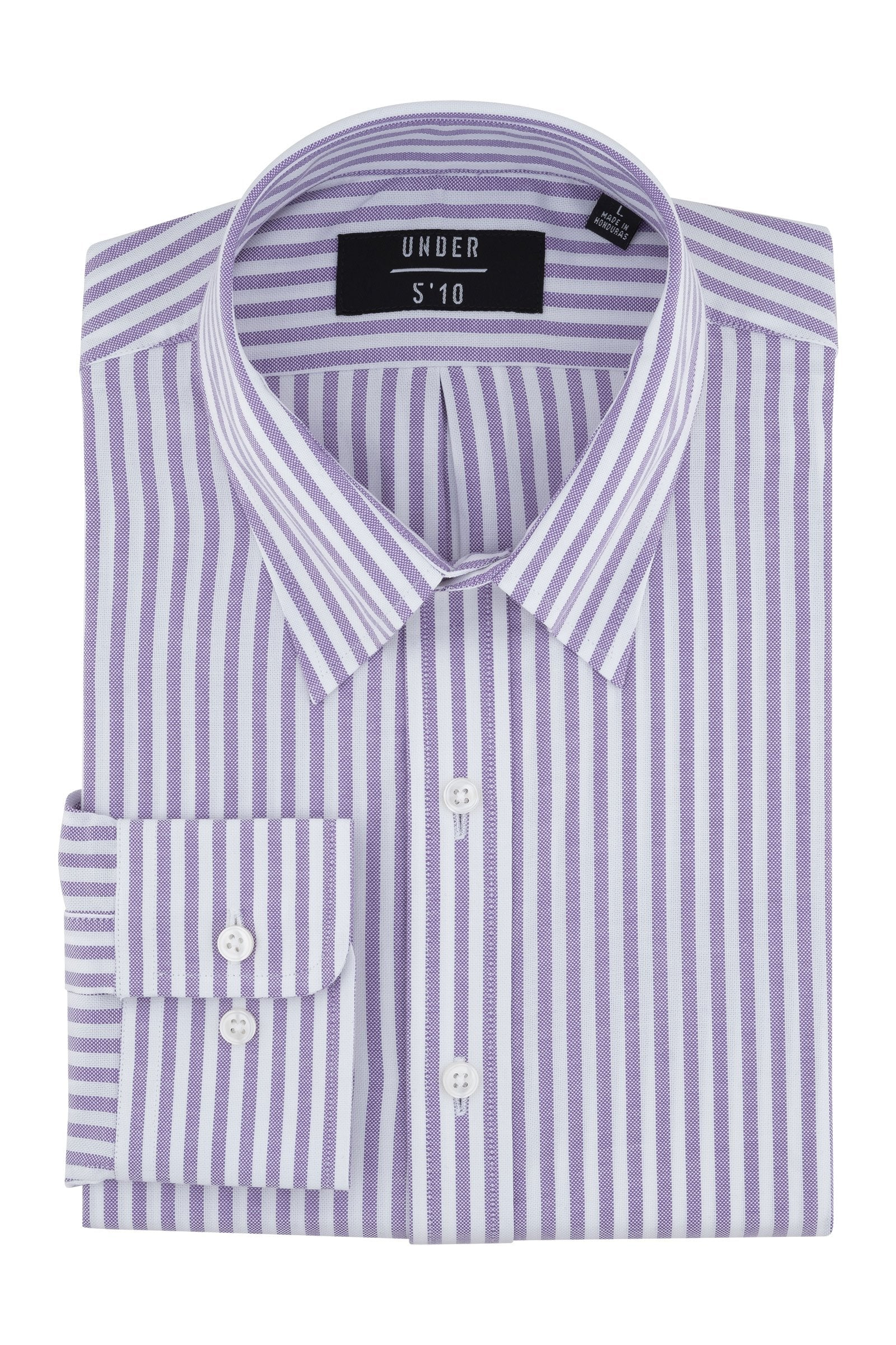 Purple Striped Oxford Button Down Shirt