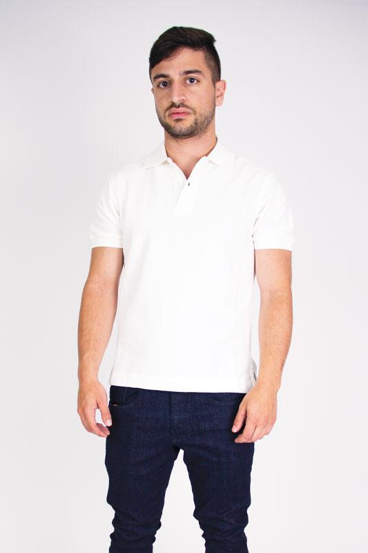 Polo White Cotton Pique