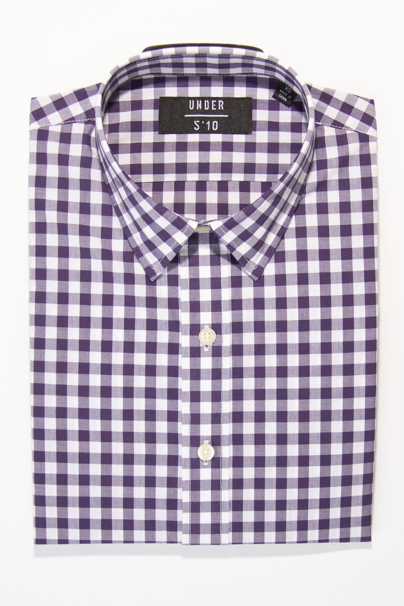 button down shirt untucked for short men