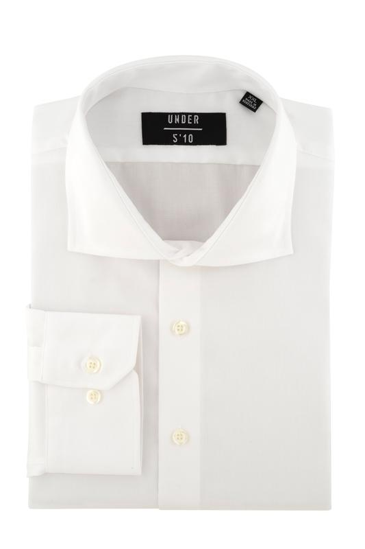 Solid White Button Down Dress Shirt