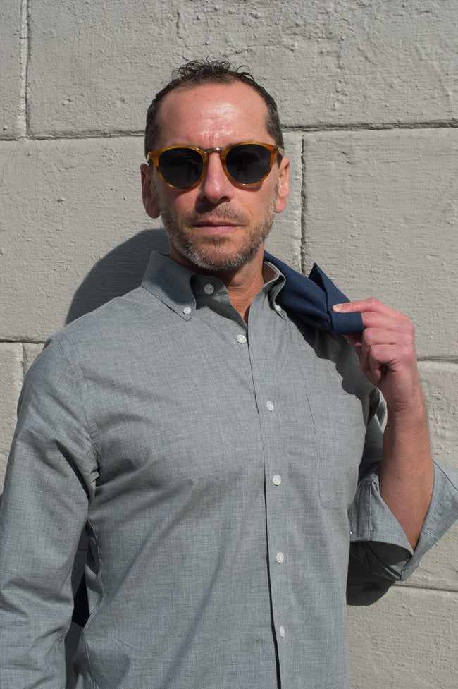 Solid Gray Button Down Shirt