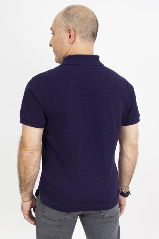 Polo Blue Cotton Pique