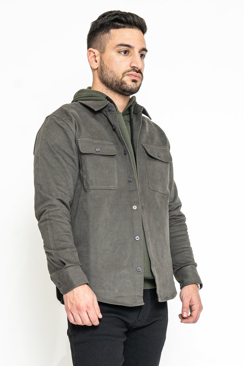 Heavyweight Overshirt Gray Under 5'10 XS