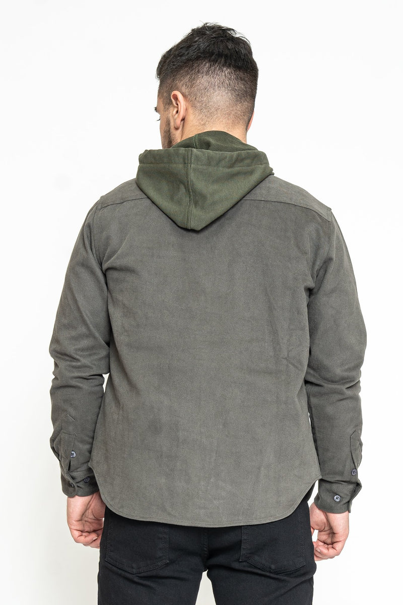 Heavyweight Overshirt Gray Under 5'10
