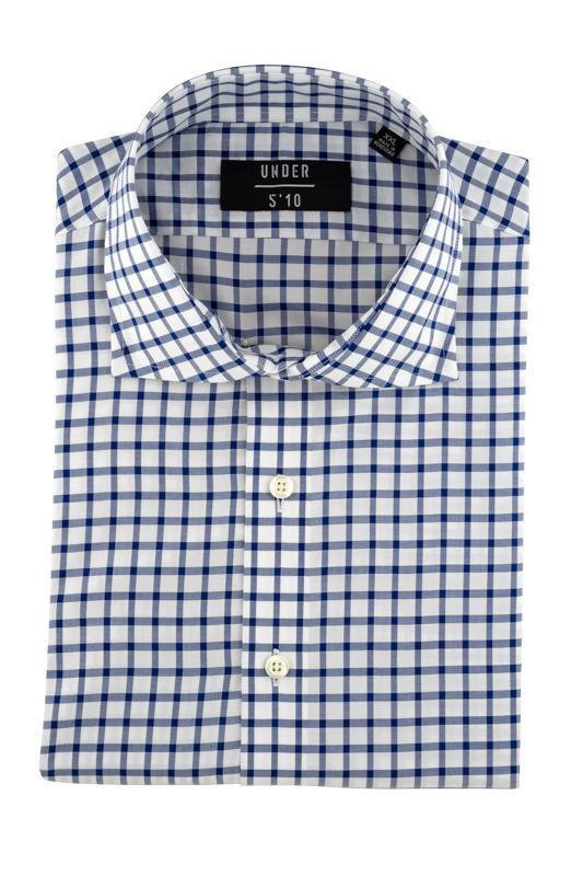 Blue Windowpane Dobby Button Down Dress Shirt