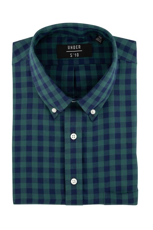 Green Blue Plaid Button Down Shirt