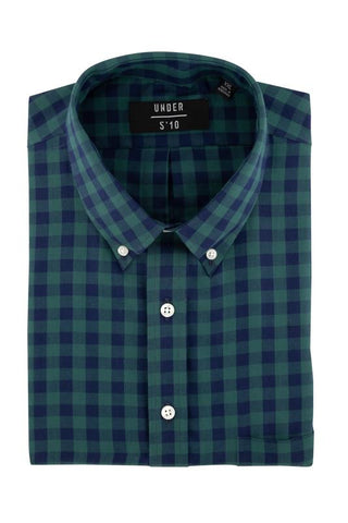 Blue Tartan Button Down Shirt