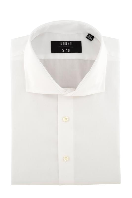 White Twill Button Down Dress Shirt