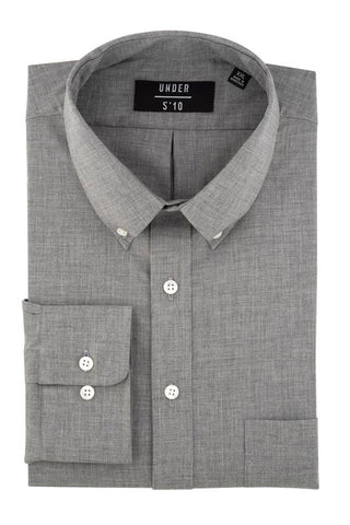 Steel Gray Sunwashed Chambray Button Down Shirt