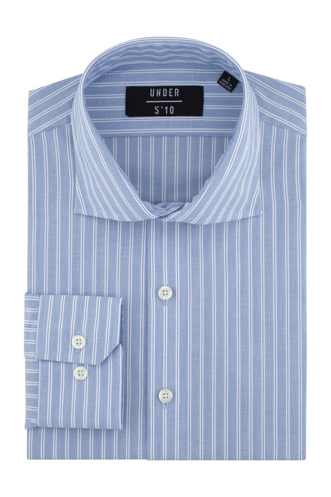 Blue White Stripe Dress Shirt