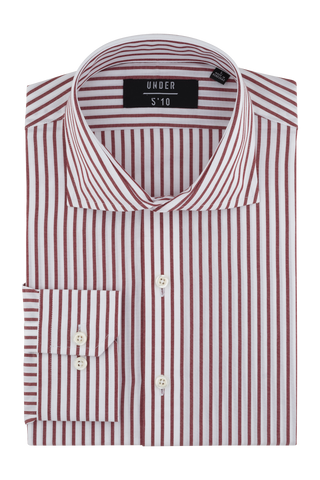 Orange Stripe Dress Shirt