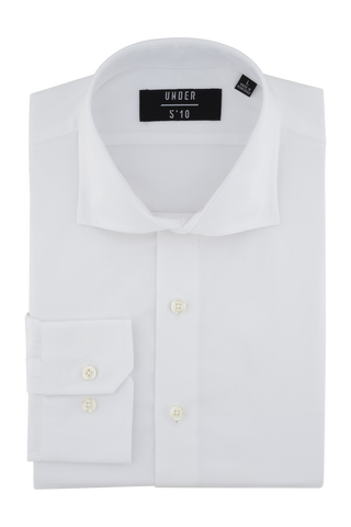 White Wale Pique Dress Shirt