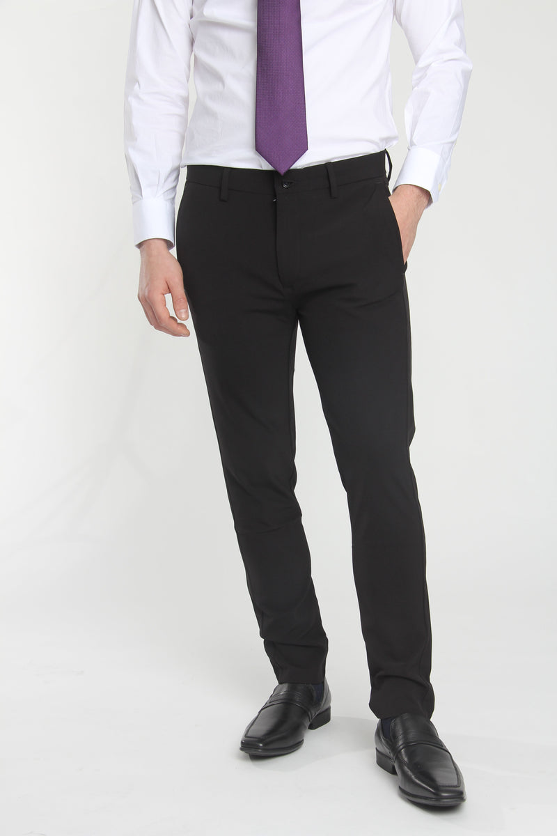 Jon Slim Tapered Fit Performance Dress Pant Black Dress Pants Under 5'10