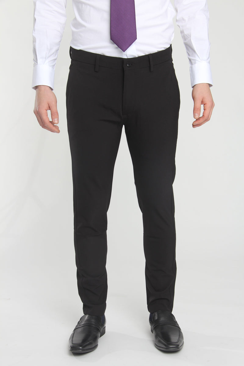 Jon Slim Tapered Fit Performance Dress Pant Black Dress Pants Under 5'10 26 X 26