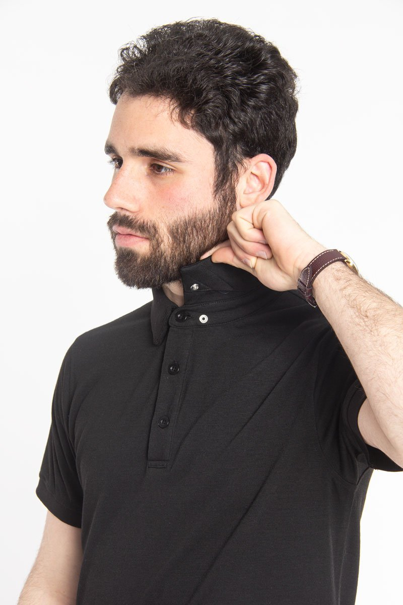 Ultra Soft Polo Black Polos Under 5'10