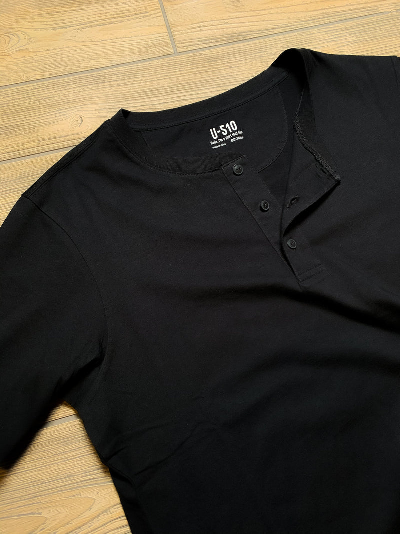 Henley Black Short Sleeve Shirt Henley Under 5'10
