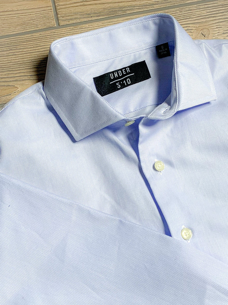 Button Down Dress Shirt Blue Heavy Twill Button Down Shirt Under 5'10