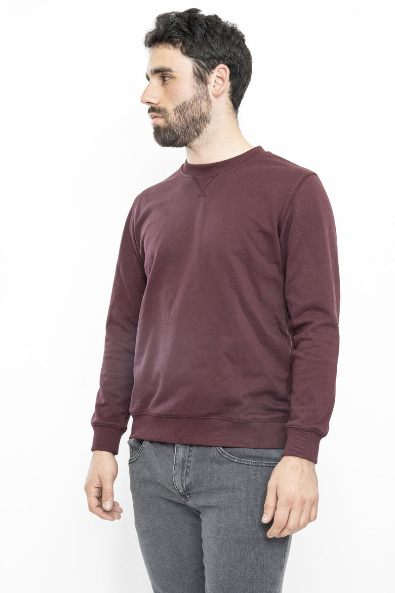 French Terry Crew Sweatshirt Burgundy Sweatshirt Under 5'10