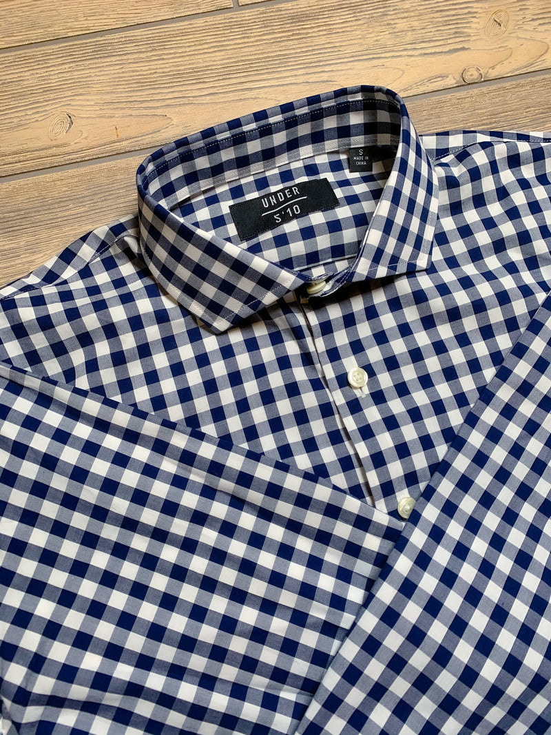 Button Down Shirt Royal Blue Check Button Down Shirt Under 5'10