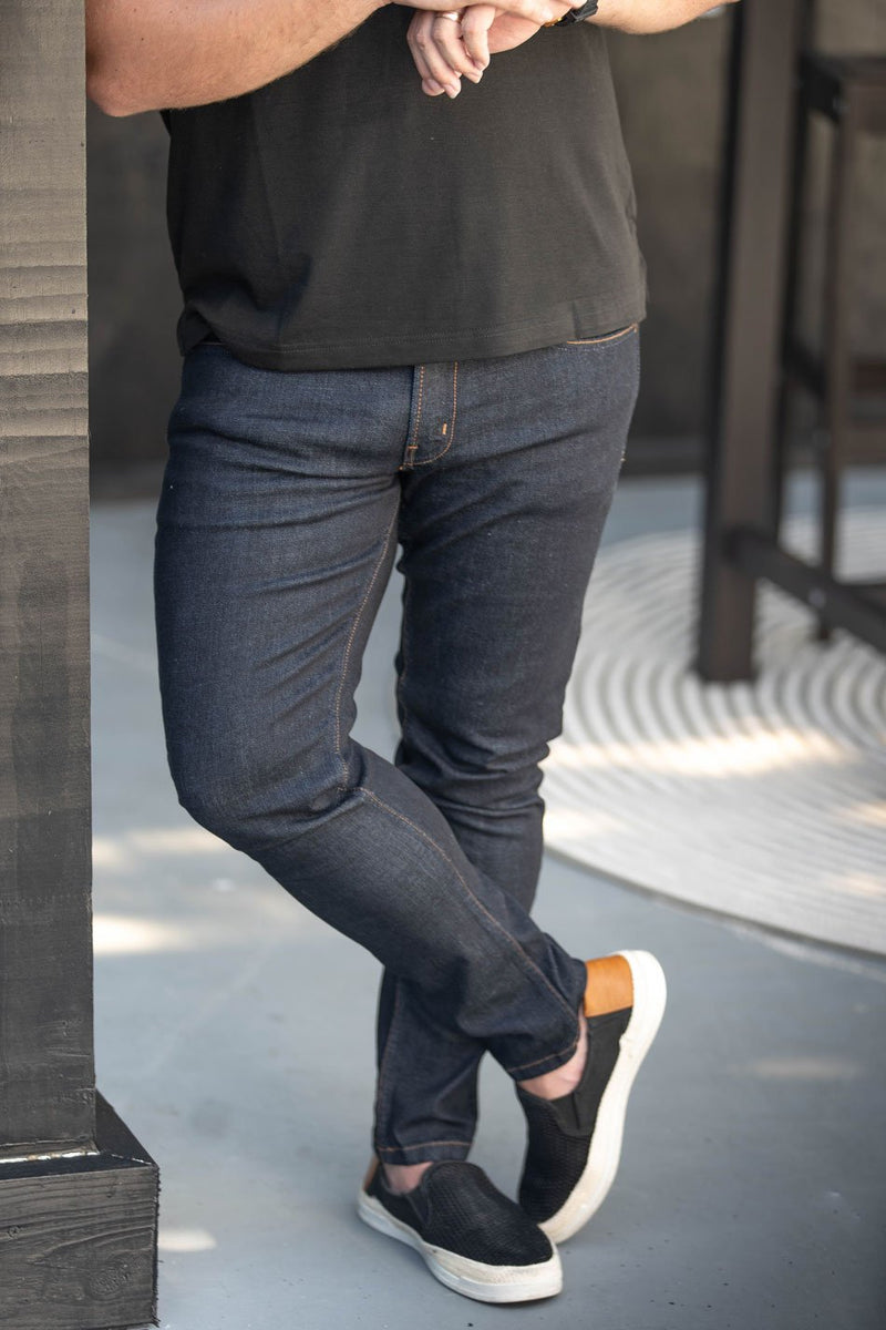 Xavier Sorbtek Jean Dark Indigo Raw Wash Jeans Under 5'10