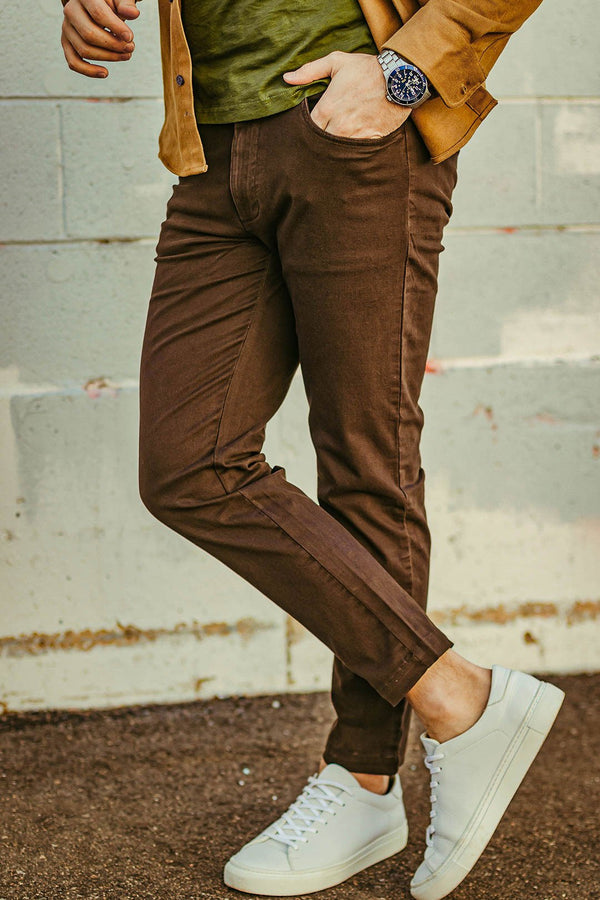 Simon 2.0 Espresso Brown Chino Pants Aztex