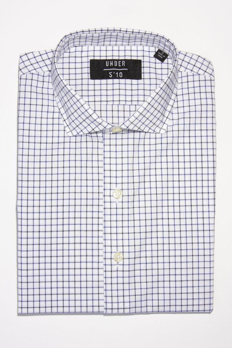 Button Down Dress Shirt Blue & Black Dress Shirts Under 5'10 XS