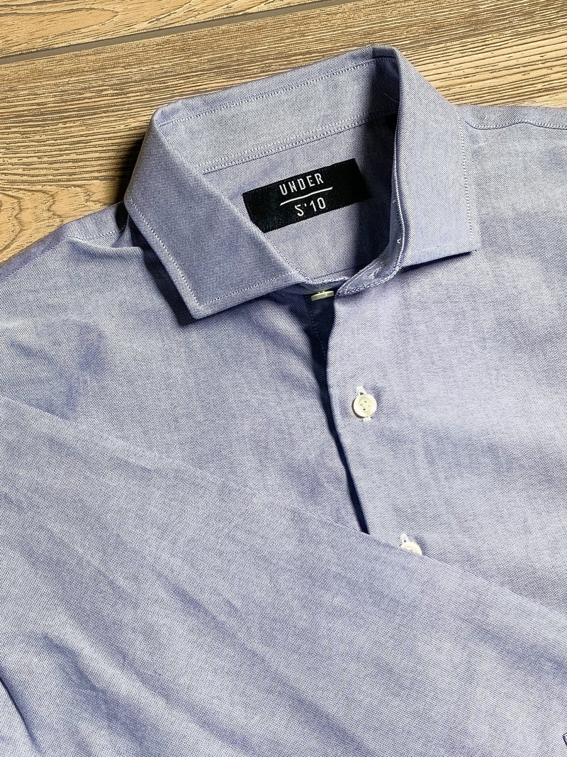 Button Down Dress Shirt Royal Blue Slub Pinpoint Oxford Button Down Shirt Under 5'10