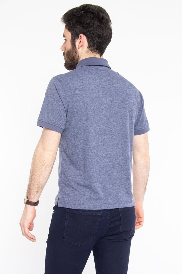 Ultra Soft Polo Blue Melange Polos Under 5'10