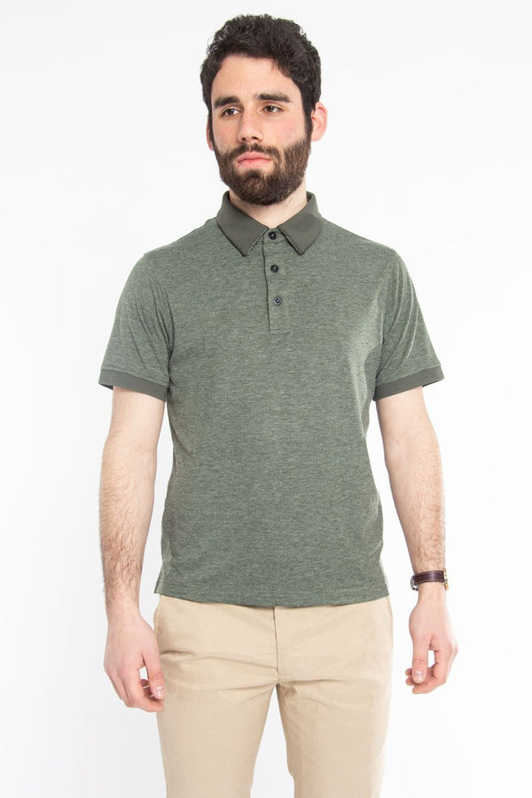 Ultra Soft Polo Green Melange Polos Under 5'10 XS