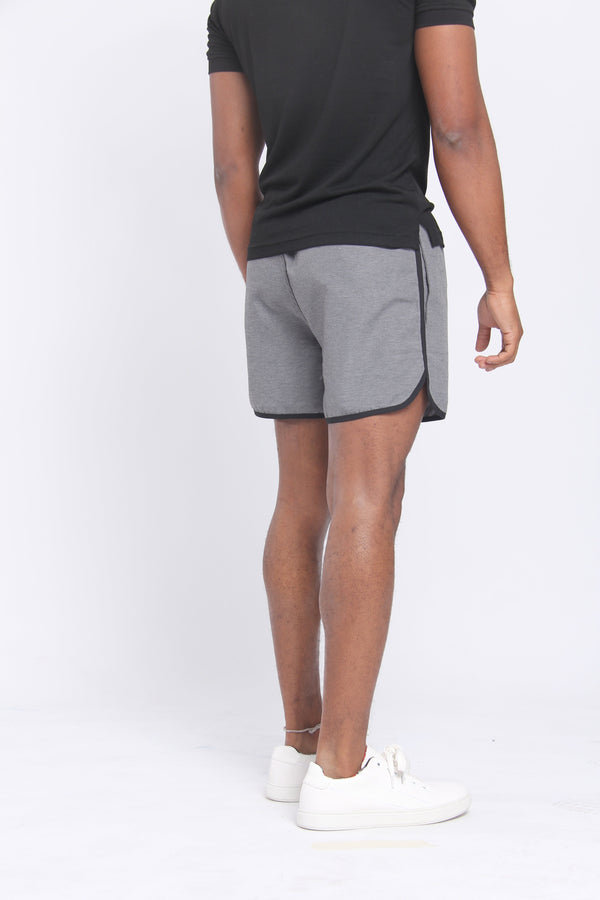 The Anything Board Short Gray Melange Shorts Under 5'10